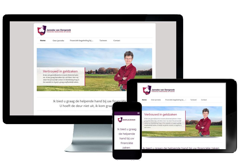 Responsive website Janneke van Oorspronk