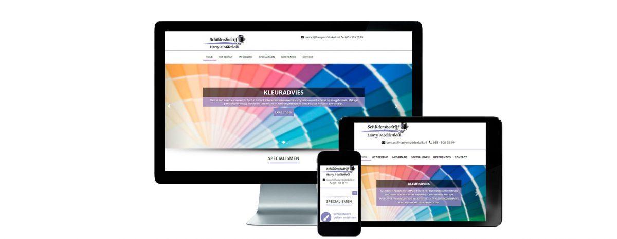 Website Schildersbedrijf Harry Modderkolk