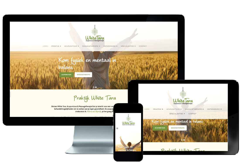 responsive webdesign, massage, acupunctuur